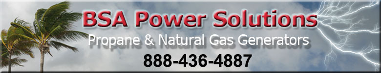 BSA Power Solutions for Propane & LP Gas standby Generators