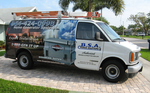 BSA Power Solitions Truck - Home Generator System