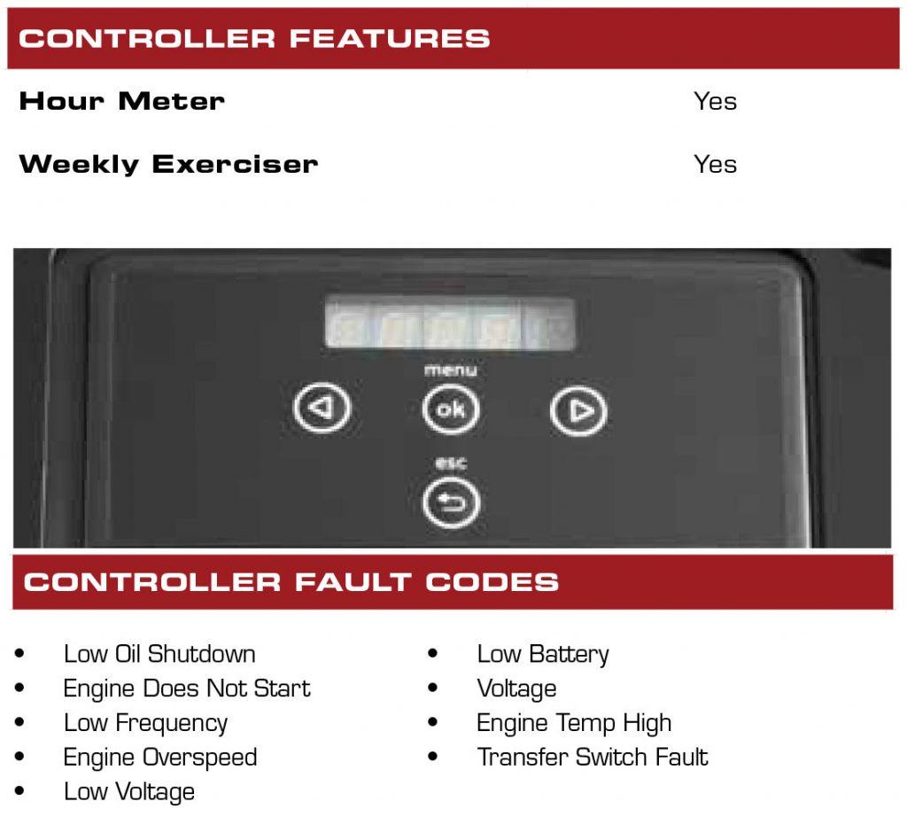 Briggs & Stratton 17-19kw Standby Generator Controller Features