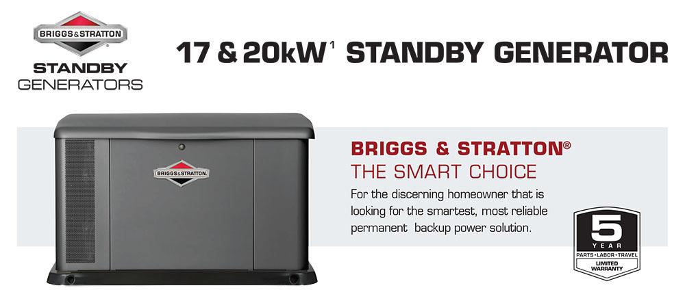 17-20kW Briggs & Stratton Fortress Standby Generators