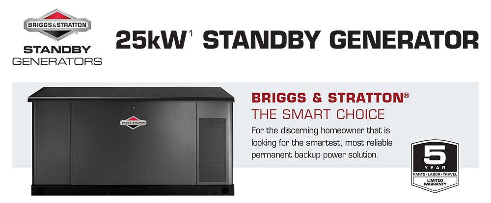 25W Briggs & Stratton Fortress Standby Generators