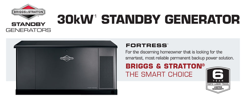 30kW Briggs & Stratton Fortress Standby Generators